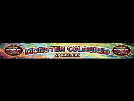 2074 Monster Coloured Sparkler 4pce £0.89