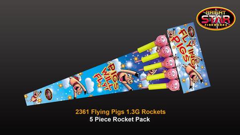 2361 Flying Pigs Rocket 5pce PVC 1.3G £14.99