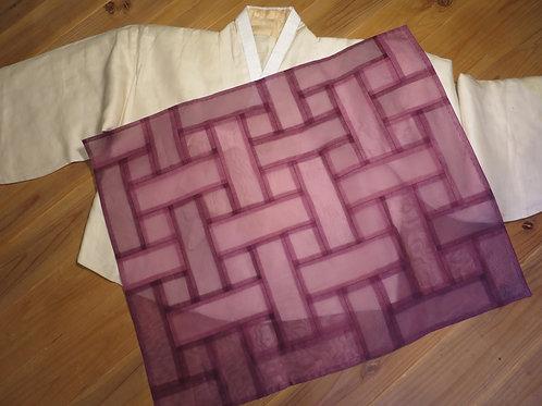 紫のノバン(薄絹) ポジャギ