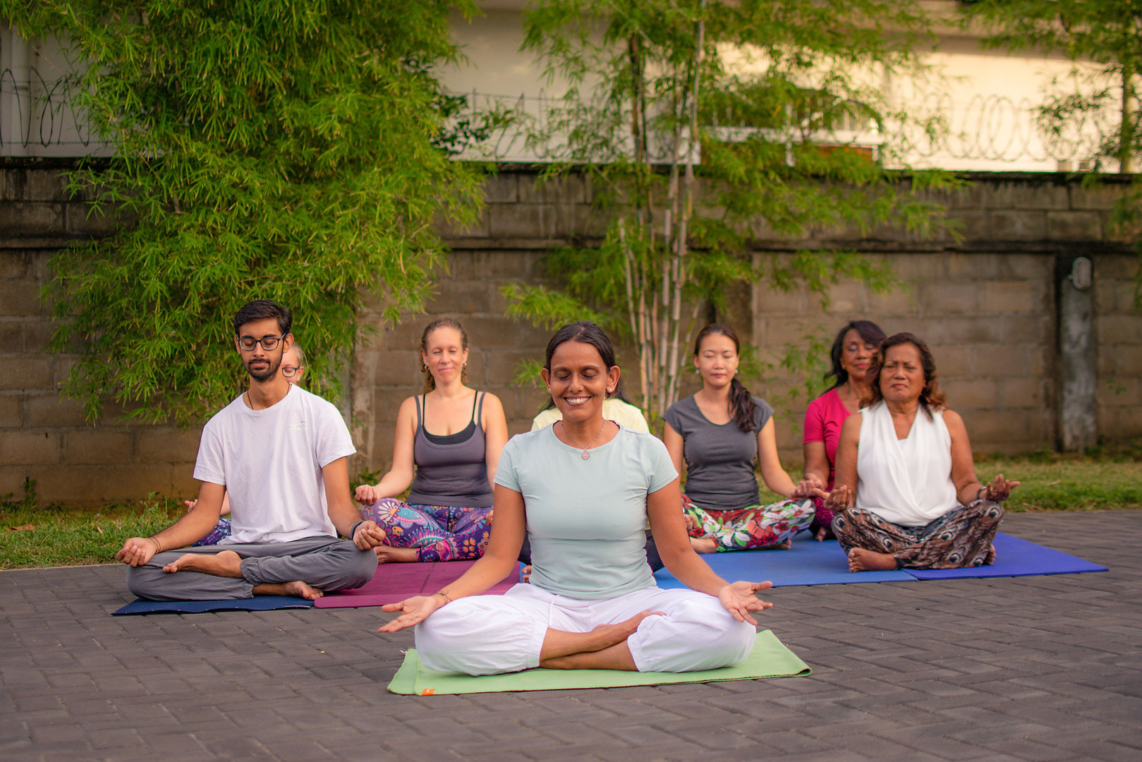 Group Session At Yoga Peetha Happiness Centre
