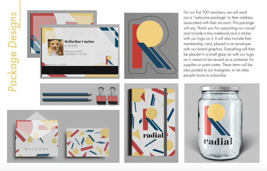 Welcome package design