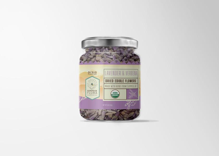 Edible flower jar