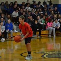 Half time half court try