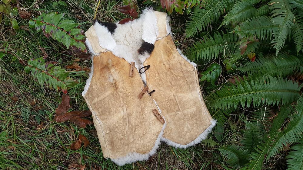 How to handmake a sheepskin vest