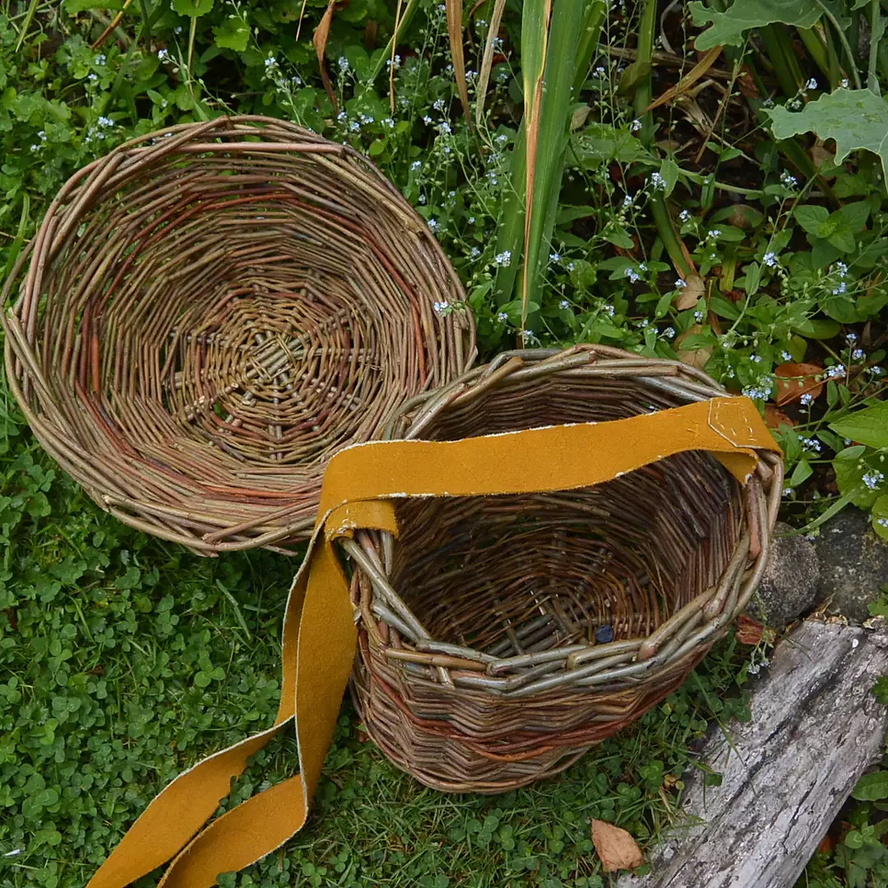Baskets woven from willow.