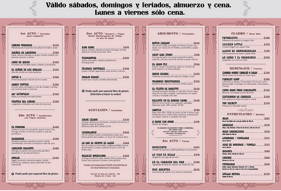MENU EL CAPITAN