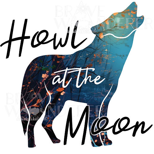 Howl at the Moon Wolf PNG
