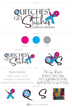 quitches get stitches branding mood boar