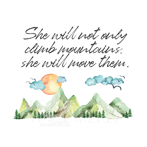 She Will Move Mountains PNG