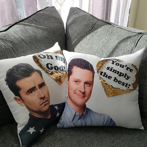Schitt's Creek Flip Sequin Pillow with Fill
