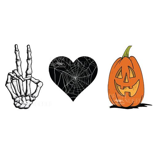 Peace Love Halloween PNG