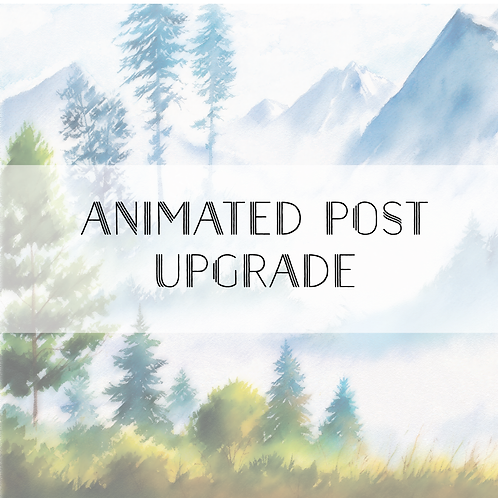 Animated Post Upgrade