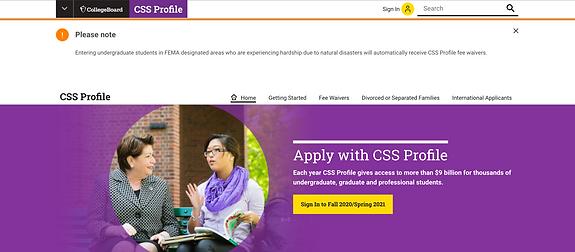 CSS Profile Institutional Aid- Grants