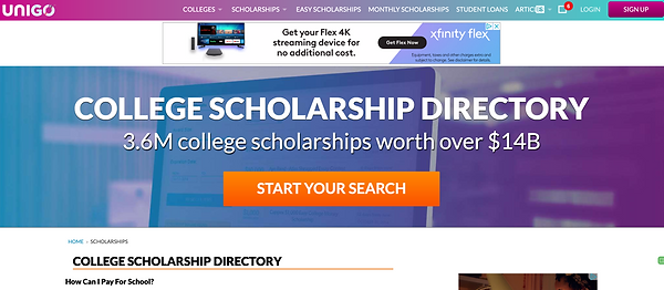 Unigo Scholarship Search