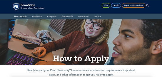 PennState application
