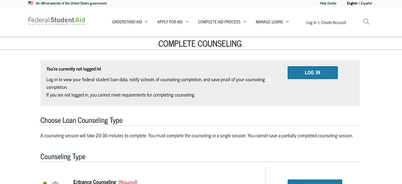 Federal Loan Counseling