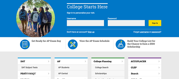 CollegeBoard SAT Registration