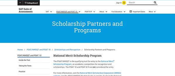 The CollegeBoard Scholarship Partners