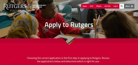 Rutgers Application