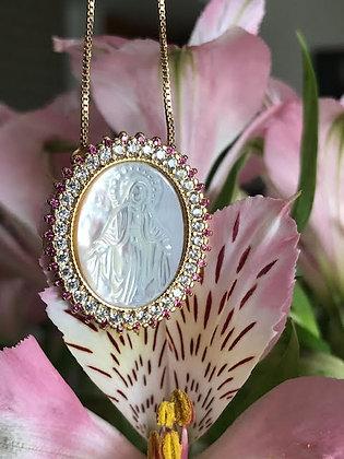 Colar Medalha Nossa Senhora das Gracas