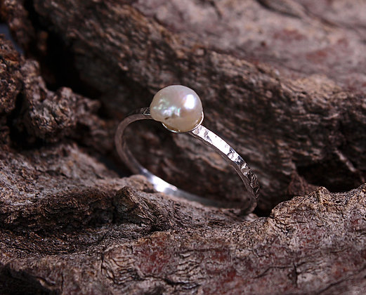Baroque Pearl Ring Mermaid Tears Collection
