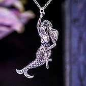sterling silver mermaid pendants
