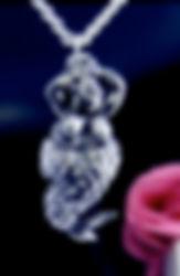 silver mermaid pendants fat
