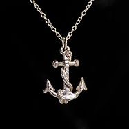sterling silver anchor pendants