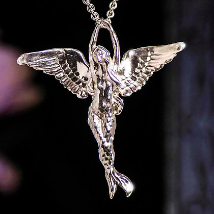 Ariel - Angel Mermaid Sterling Silver Pendant