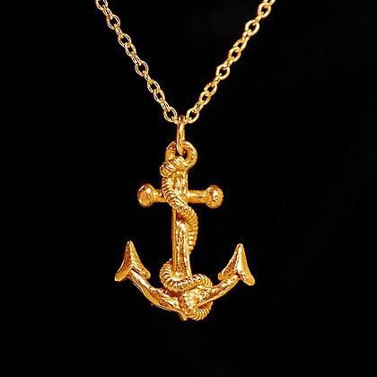 Anchor Antique/retro Gold Vermeil pendant