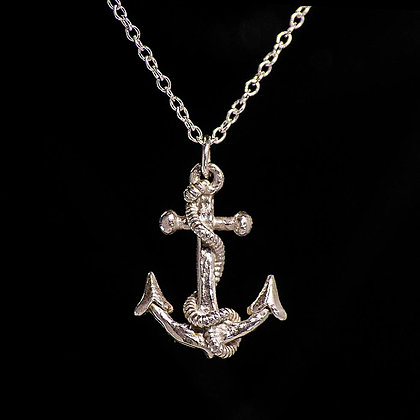 Antique Style Anchor Sterling Silver