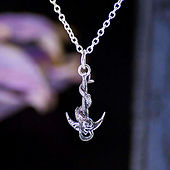 silver mermaid pendants silver anchor pendants