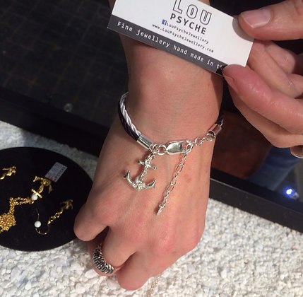 Limited Edition silver Nautical anchor braclet