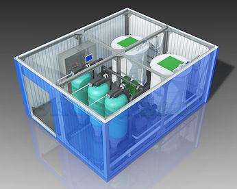 блочно-модульные станции водоподготовки, водоподготовка в контейнере