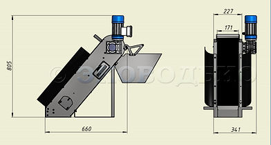 механическая решетка, габаритные размеры