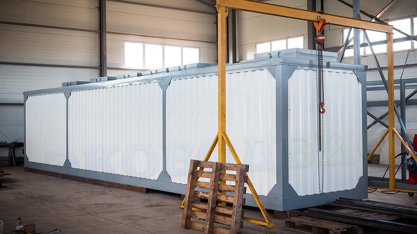 Блочно-модульные очистные сооружения хозяйственно бытовых сточных вод, очистные сооружения хозяйственно-бытовых сточных вод, очистные сооружения модульного типа, контейнерного типа, в контейнерном исполнении