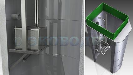 Корзина для сбора мусора в КНС, кнс, канализация, сетка