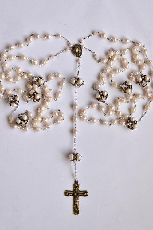 Lazo de Boda. Perlas y cristales.