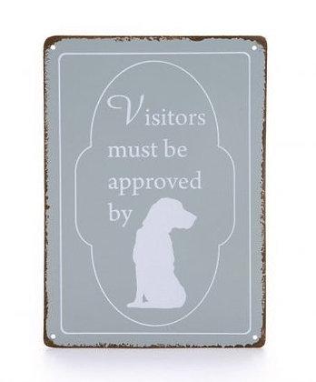 Bord Visitors Hond