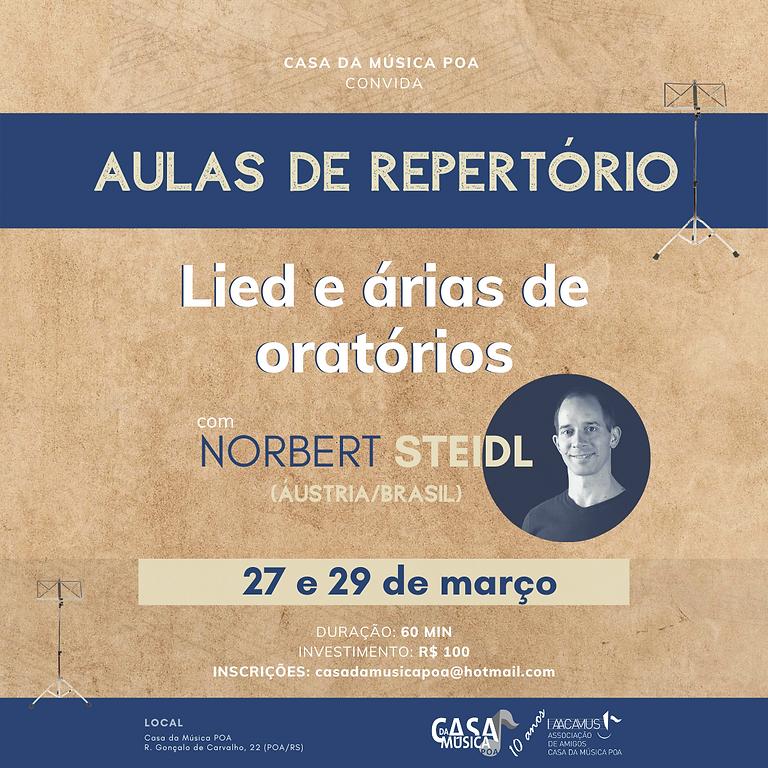 Aulas de Repertório: Lied e árias de oratórios