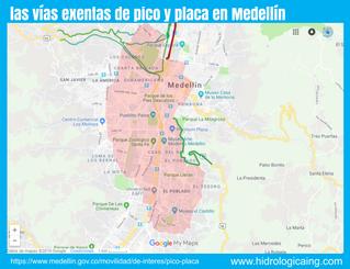 ¿Sabes cualés son las vías exentas del pico y placa en Medellín?