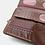 Thumbnail: Portefeuille rectangulaire rabat brodé
