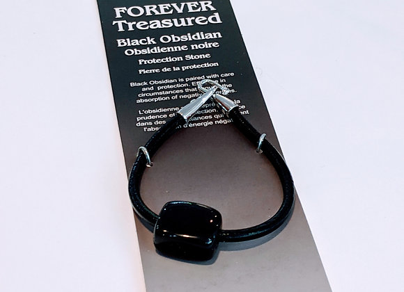 Bracelet une pierre Obsidienne Noire