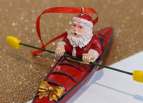 Père  Noël en kayak