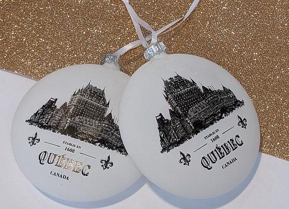 Boules de Noël Chateau Frontenac