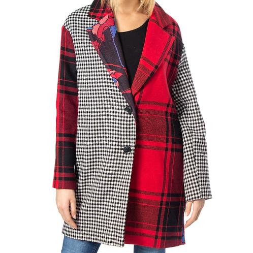 Manteau carroté assymétrique