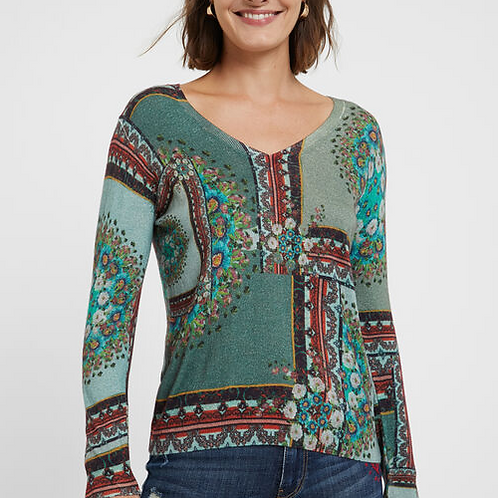 Pull maille boho