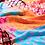 Thumbnail: Foulard jacquard et fleuri
