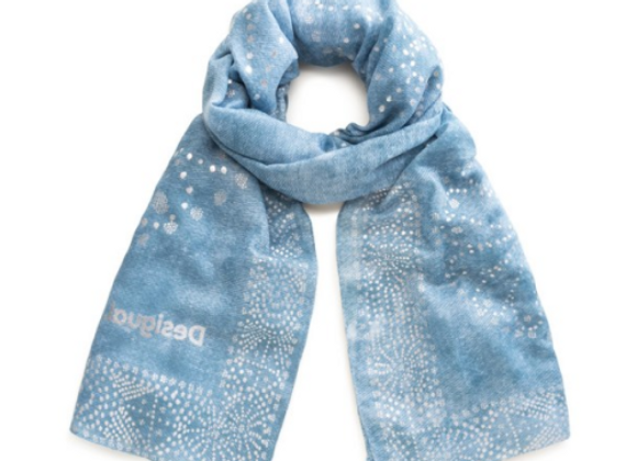 Foulard Galaxie bleu
