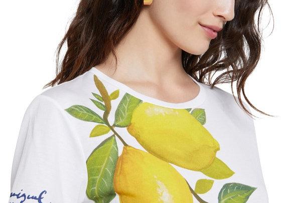 T-shirt citrons 100% coton